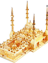 cheap -3D Puzzles Jigsaw Puzzle Metal Puzzles Model Building Kit Fun Famous buildings 3D Children's Gift