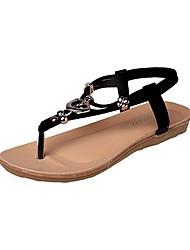 Women's Shoes Libo New Style Flat Heel Slingback Sandals Office & Career / Dress / Casual Black / Blue / Almond