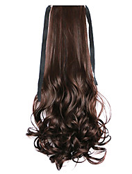 cheap -Brown Water Wave Long Curly Hair Wig Style Pony Tail Bandage Ponytails