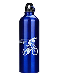 cheap -Sports Water Bottle Portable Recreational Cycling / Cycling / Bike / Mountain Bike / MTB Aluminium Alloy Silver / Red / Blue - 1pcs