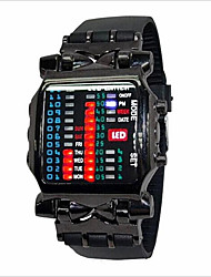 Men's Watch Screen Calendar Red LED Digital