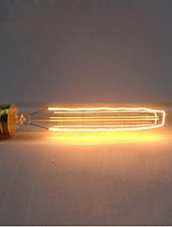 cheap -e27 AC220-240V 40w silk carbon filament light bulbs t185 around pearl