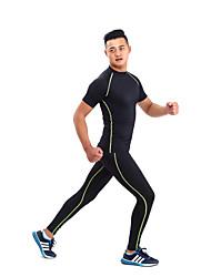GETMOVING Per uomo Per donna Unisex T-shirt e pantaloni da corsa Manica corta Asciugatura rapida Design anatomico Resistente ai raggi UV