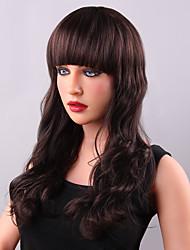 Stylish Long Shaggy Deep Wave Human Virgin Remy Hand Tied-Top Capless Woman's Hair Wig