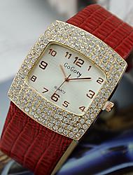cheap -Women's Quartz Wrist Watch Imitation Diamond Alloy Band Elegant Fashion Black White Red Brown Pink