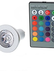 cheap -100-200 lm GU10 LED Globe Bulbs A50 1 LED Beads High Power LED Remote-Controlled RGB 85-265 V / 1 pc