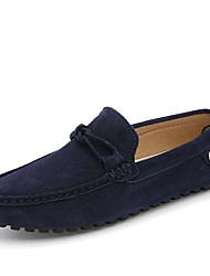 cheap -Men's Shoes Suede Spring / Fall Comfort / Moccasin / Roller Skate Shoes Loafers & Slip-Ons Fitness & Cross Training Shoes Black / Red / Blue / Wedding / Party & Evening