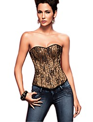 cheap -Women's Hook & Eye Plus Size Overbust Corset Underbust Corset-Jacquard