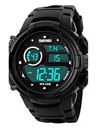 Недорогие -SKMEI Мужской Спортивные часы электронные часы LCD Календарь Секундомер Защита от влаги тревога Светящийся Хронометр Цифровой Pезина