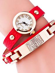 cheap -Women's Bracelet Watch Hot Sale Alloy Band Charm / Fashion Black / Blue / Red
