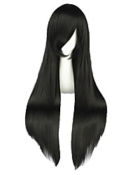 cheap -Synthetic Wig Straight Synthetic Hair Braided Wig Black Wig Women's Long Capless