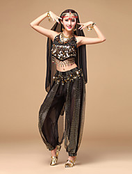 cheap -Shall We Belly Dance Outfits Women Performance Chiffon Sequins Dance Costumes