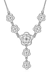 cheap -Women's Cute Diamond Sterling Silver Silver Choker Necklace Pendant Necklace Statement Necklace  -  Party Work Casual White Necklace For