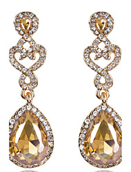 cheap -Luxury Drops Shape Cubic Zrconia Crystal Drop Earrings Jewelry for Lady(5.7*1.7cm)
