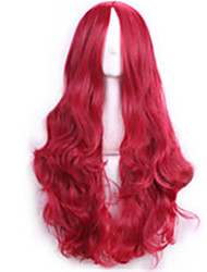70 Cm Harajuku Anime Cosplay Wigs For Women Ladies Long Full Curly Sexy Synthetic Hair Red Wig