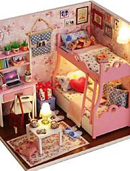 Недорогие -в течение времени дом картины ручной творческих поделок кабина модель девушка рука здания игрушки для ее день рождения