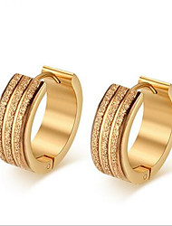 Women's Hoop Earrings Fashion Stainless Steel 18K gold Circle Tube Jewelry For Party Daily Casual