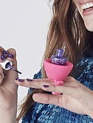 Flexible Woman New Multi Wearable Nail Polish Bottle Holder Ring Fit All Finger(Random Colors)