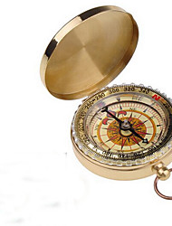 cheap -Outdoor Camping Hiking Portable Brass Pocket Golden Compass Navigation H1E1