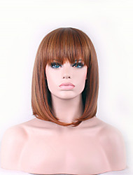 cheap -Best-selling Europe And The United States A Wig Brown Neat Bang BOBO Wig