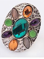 Ringe Damen Kristall Legierung Legierung Verstellbar Silber Die Farben der Stickereien sind wie im Bild dargestellt.