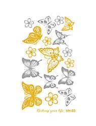 billiga -Tatueringsklistermärken tillfälliga tatueringar Art Deco / Retro Vattentät / 3D Body art Ansikte / händer / arm