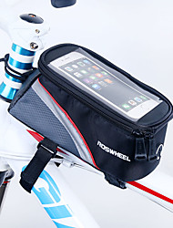 cheap -ROSWHEEL Bike Frame Bag Cell Phone Bag 5.5 inch Waterproof Zipper Wearable Moistureproof Shockproof Touch Screen Cycling for Iphone 8