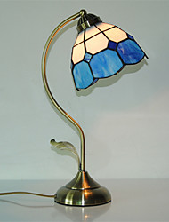 cheap -7 inch Retro Tiffany Table Lamps Glass Shade Living Room Bedroom light Fixture 1-lights