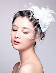 Tulle stof fascinators headpiece elegant klassisk feminin stil