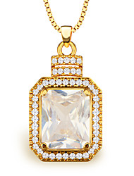 cheap -Women's Crystal Pendant Necklace - Golden Necklace For