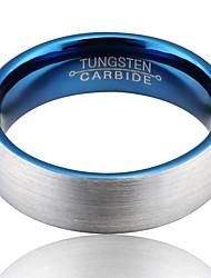 cheap -Men's Band Ring - Tungsten Steel Vintage, European, Fashion 7 / 8 / 9 Silver For Wedding / Party / Daily