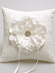 cheap -Ring Pillow Satin / Lace Beach Theme / Floral ThemeWithRhinestones / Petals