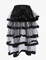 economico -Per donna Non indicato Sottobusto Completo Vestiti con corsetto Taglia forte Poliestere Nylon Di pizzo Collage Nero