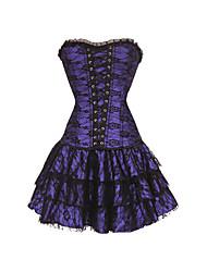 abordables -femmes overbust corset robe sexy lingerie corset vintage shapewear shaper dentelle