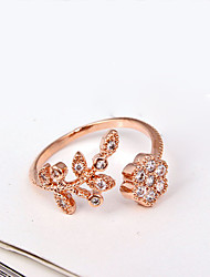 cheap -Cute Rhinestone / Imitation Diamond / Alloy Band Ring - Luxury / Work / Open Silver / Golden Ring For Party / Daily / Casual