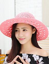 abordables -Femme Vacances Chapeau de Paille Chapeau de soleil Arc-en-ciel