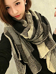 Korean Version Of The Fall And Winter Warm Cashmere Black And White Plaid Scarves