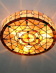 cheap -18 inch Retro Tiffany Ceiling Lamp /Shell Shade Flush Mount Living Room Dining Room light Fixture