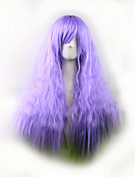cheap -Best-selling Europe And The United States A Wig Purple Corn Hot Side Curly  Hair Wig