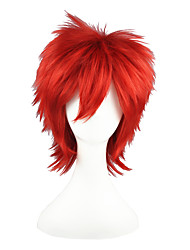 cheap -Synthetic Wig Straight Synthetic Hair Red Wig Capless