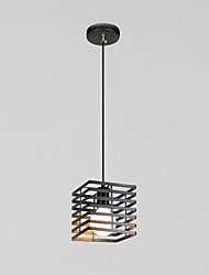 Max 60W Vintage  Black Metal Loft Pendant Lights Living Room Dining Room Hallway Cafe  Light Fixture