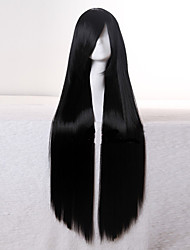 cheap -top quality super long straight black 1b color woman s fashion synthetic hair wigs freeshipping