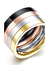 cheap -Men's Ring - Round Circular / Multi-ways Wear / Double-layer Assorted Color Ring For Daily / Casual