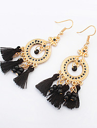 Women's Drop Earrings Hoop Earrings Tassel Fashion European Bohemian Resin Alloy Circle Jewelry For Party Daily Casual