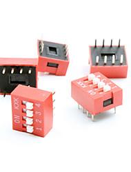 abordables -bricolaje de 4 posiciones 8 pines interruptores DIP paso de 2,54 mm (paquete 5piece)