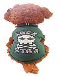 Pas T-majica Odjeća za psa Prozračnost Pismo i broj Zelen Kostim Za kućne ljubimce