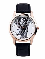 baratos -Homens Relógio de Pulso Cronógrafo PU Banda Brilhante / Fashion Preta / Branco / Marrom