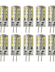 cheap -10pcs 3W 200-250 lm G4 LED Bi-pin Lights T 24 leds SMD 2835 Dimmable Decorative Warm White Cold White DC 12V