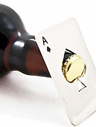 cheap -New Stylish Hot Sale 1pc Poker Playing Card Ace of Spades Bar Tool Soda Beer Bottle Cap Opener Gift
