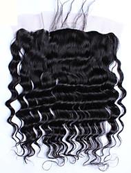 baratos -4 pacotes Cabelo Brasileiro Ondulação Larga 10A Cabelo Virgem Trama do cabelo com Encerramento Tramas de cabelo humano Extensões de cabelo humano